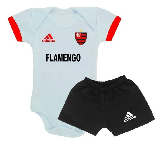 Promoção Conj. Body Bebê Time Do Flamengo Infantil
