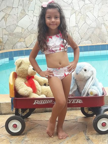 Biquine Ou Maio Infantil + Roupao Infantil Frete Grates