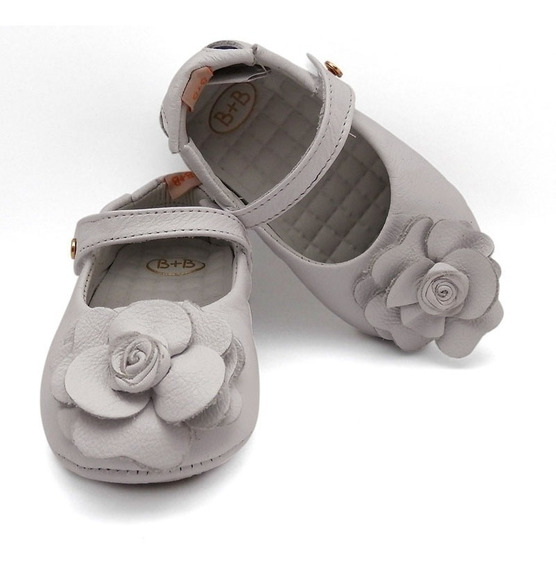Sapato Infantil Menina Bebê Couro Sapatilha Promoção