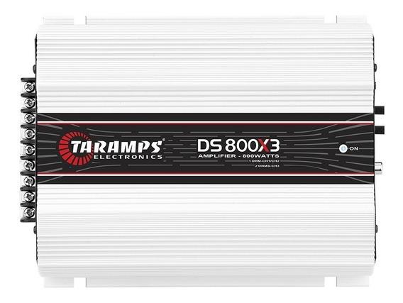 Módulo Taramps Ds 800x3 800w 2 Ohms Amplificador Automotivo