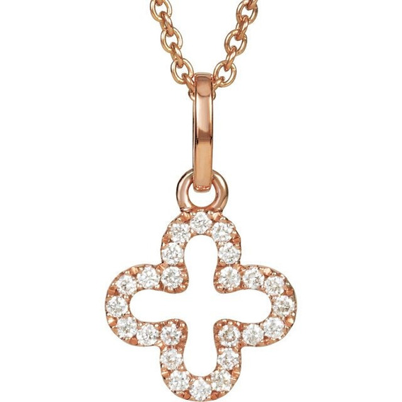 Gargantilla Cross En Oro Rosa De 14k (27969)