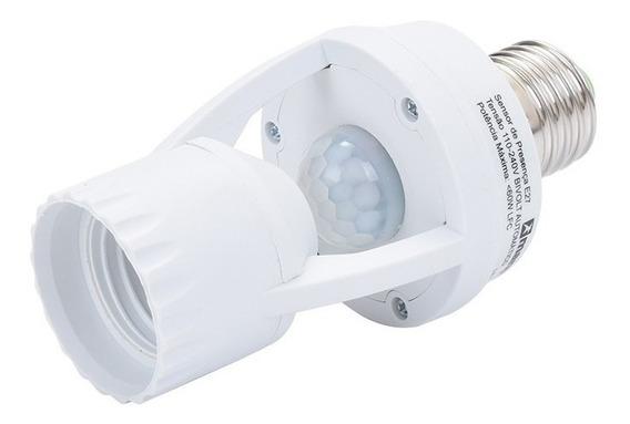 Kit 2 Sensor Presença Com Fotocélula Pra Lâmpada Soquete E27