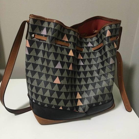 Bolsa Bucket Bag Emili Triangle Black Schutz