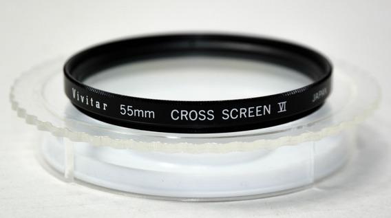 Filtro Vivitar 55mm Cross Screaen 6