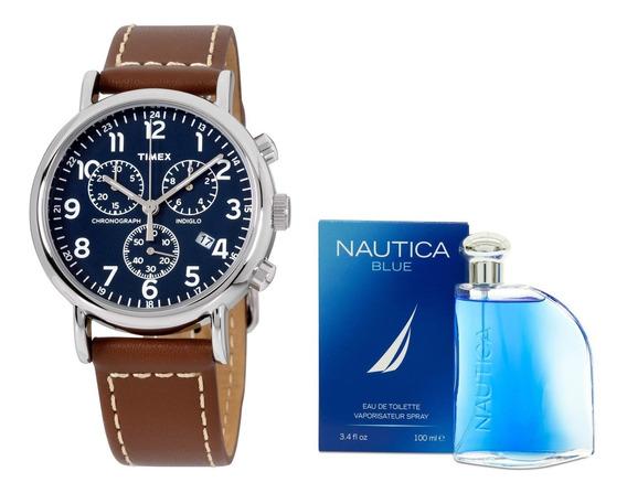 Reloj Timex Modelo: Tw2r42600 & Perfume Nautica Envio Gratis