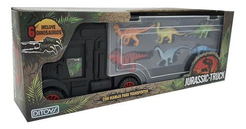Imagen 1 de 11 de Juguete Camión Grande Transportador Dinosaurios Jurassic