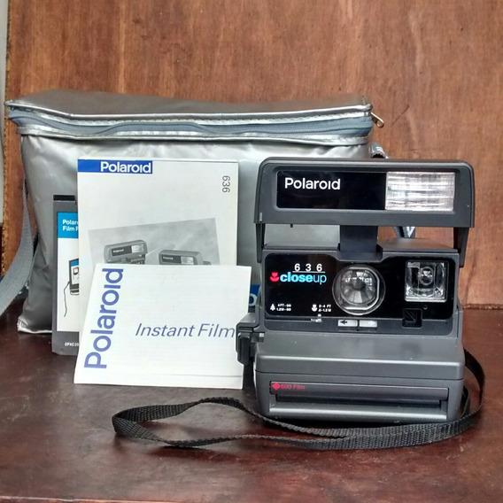 Polaroid 636 Câmera Fotográfica Funcionando Case Manual