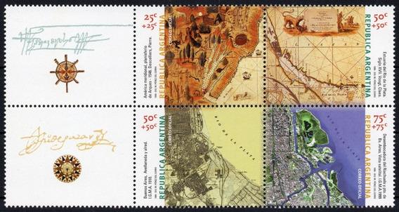 Argentina 1999 Gj 3011/14** Complemento Mint Cartografía A
