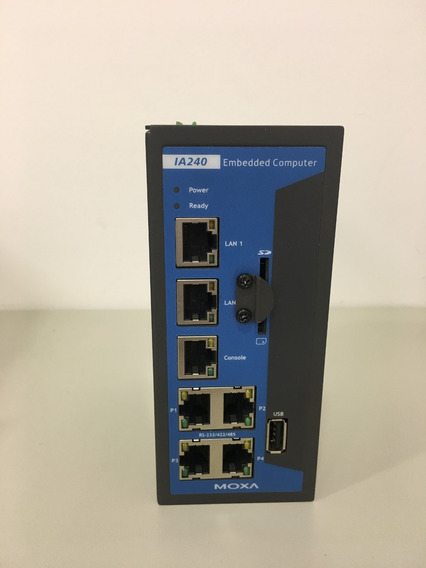 Mini Pc Industrial Moxa Ia 240- Lx C/ Cabo Serial 4port Db9m