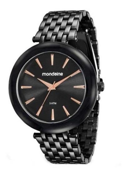 Relógio Mondaine Feminino Preto Casual 76559lpmvpe4