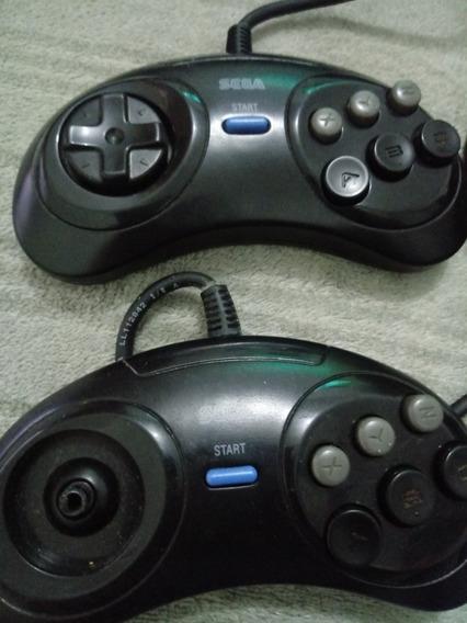 2 Controles Mega Drive 6 Botoes