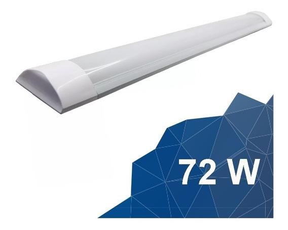 Lampada Led Tubular Linear Com Calha 240 Cm 72w 6.000k