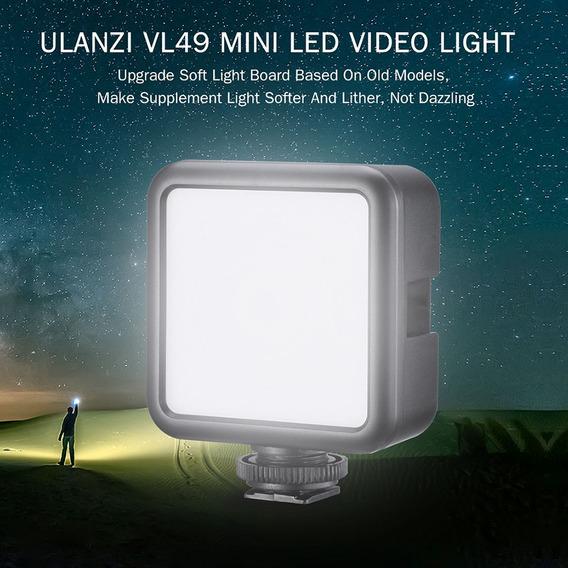 Ulanzi Vl49 Mini Lâmpada De Fotografia Com Luz De Vídeo Led