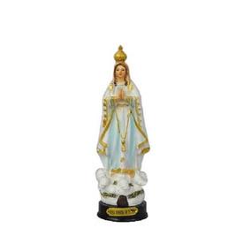 Imagem Nossa Senhora De Fatima Santa Em Resina Com Detalhes