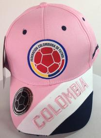 Selección Colombia De Fútbol Gorras Rosadas Fcf Para Mujer