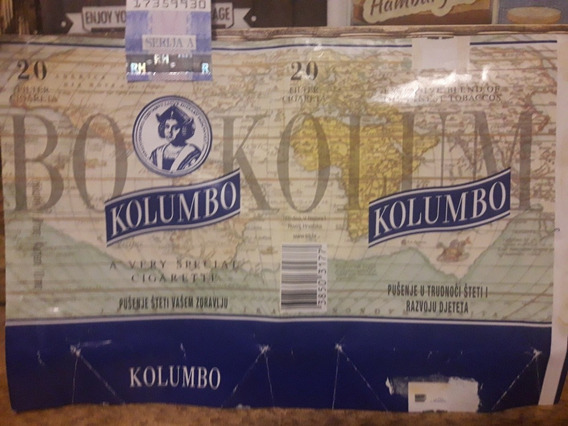 Embalagem De Cigarro Da Croácia Kolumbo