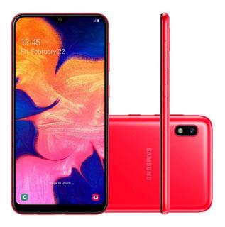 Smartphone Samsung Galaxy A10 32gb Tela 6.2 13mp Vermelho