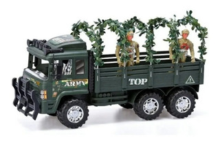 Juego Juguete Camion Militar Soldado A Friccion Auto Autito