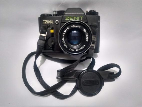 Câmera Zenit 12xs 58mm F/2 Manual E Alça Originais