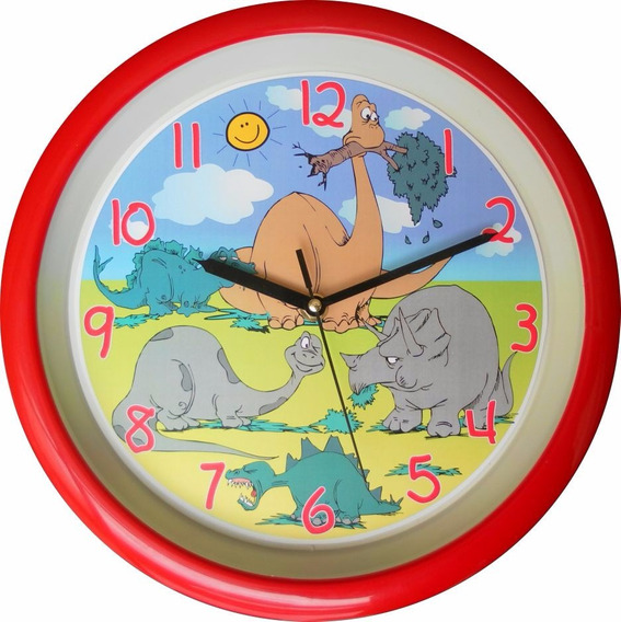 Reloj De Pared Dinosaurios