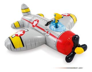 Avion Inflable Intex Con Pistola De Agua 57537ep
