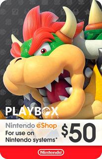 Nintendo Eshop Gift Card Tarjeta $50 / 3ds Wii U Switch Usa