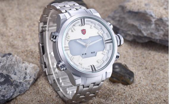 Relógio Masculino Shark Militar Led Original Oferta