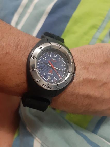 Relogio Timex Data Luminait Aco Preto E Pulseira Neopraner