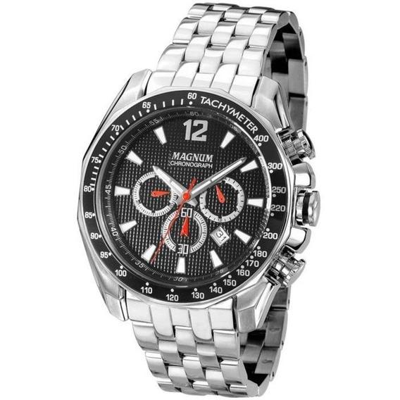 Relógio Magnum Masculino Ma33586t Cronógrafo Prateado