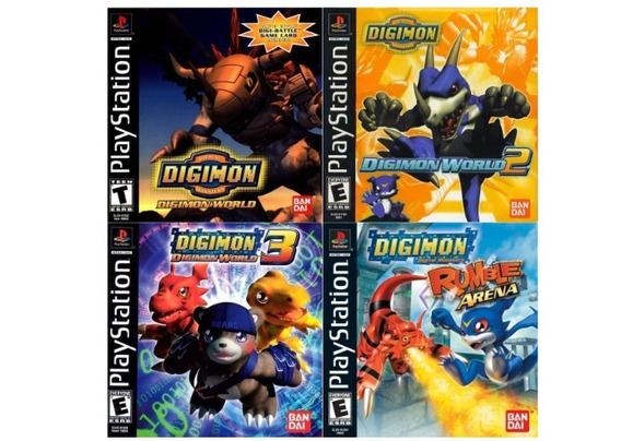 Patch Coleção Digimon Ps1 Psone Play 1 - 4 Jogos