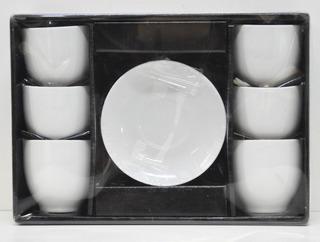 Set 6 Tazas De Porcelana Café C/ Platos 50ml Oferta