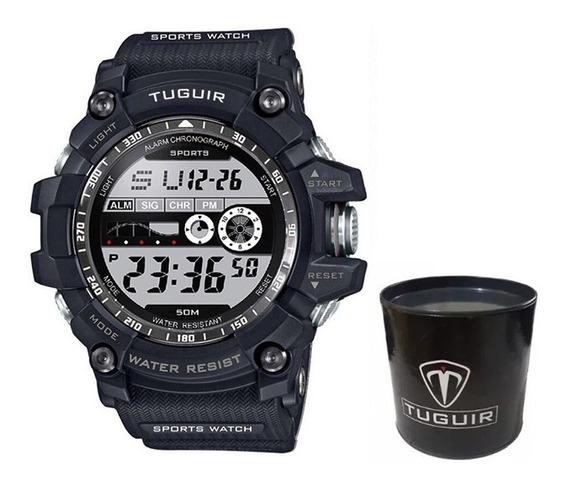 Relógio Masculino Tuguir Tg6009 Militar Digital Esportivo Prova D