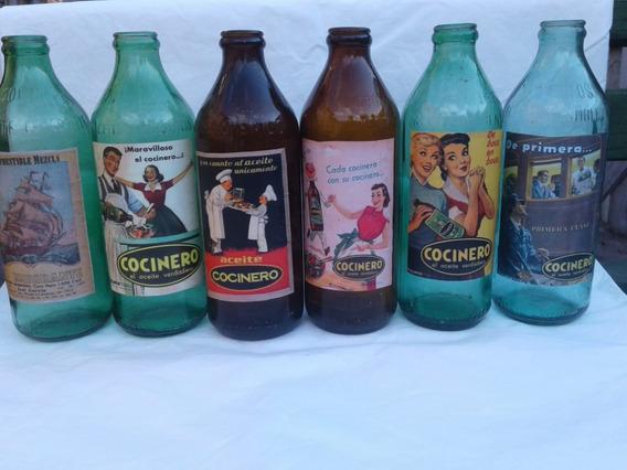 Botellas De Aceite Antiguas Precio 150$ Unidad