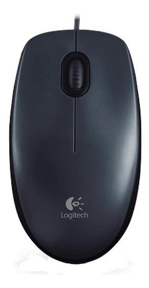 Mouse Logitech Usb M90 Preto