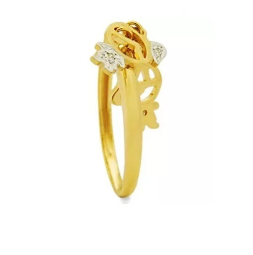 Anel De Ouro 18k/750 + 2 Pingentes Filhas/filhos + Diamantes