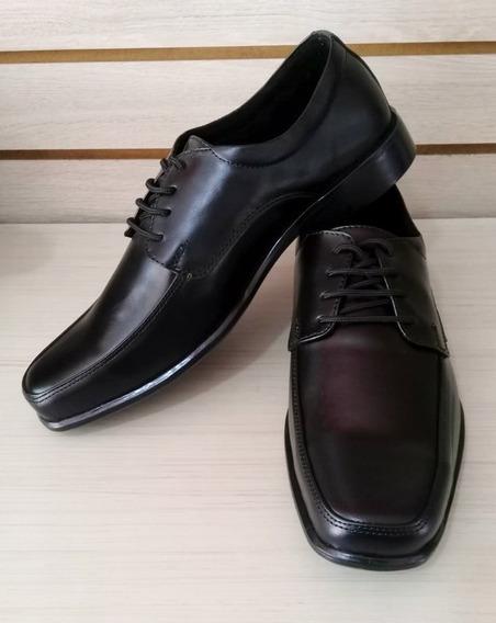 Zapato Formal Elegante Para Hombre En Cuero Negro Con Cordón