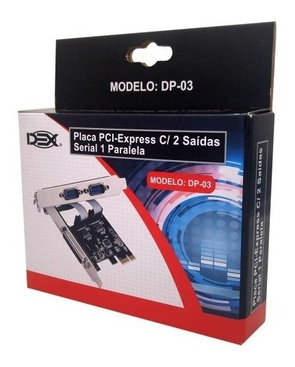 Placa Pci-express C/ 2 Saídas Serial 1 Paralela
