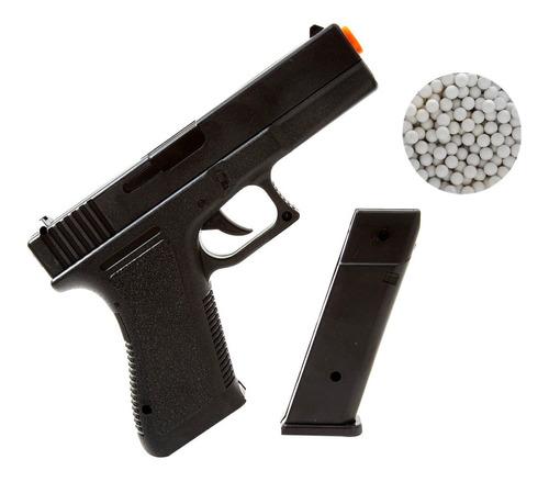 Imagem 1 de 7 de Pistola Glock V307 Airsoft Rossi 6mm 150fps + Munições Bbs