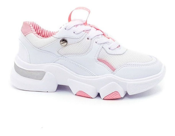 Tenis Sal573 Color Blanco X Rosa Mujer