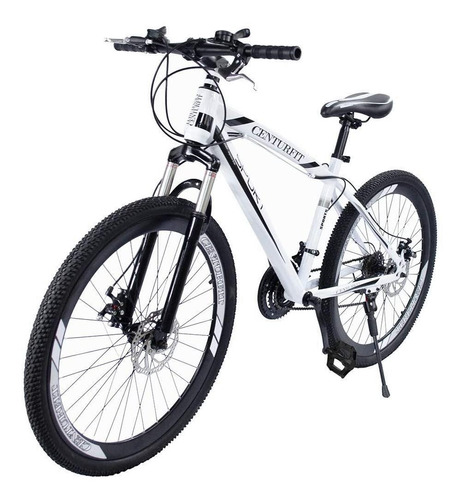 Imagen 1 de 2 de Mountain bike Centurfit MKZ-CFBICDEP R26 21v color blanco con pie de apoyo