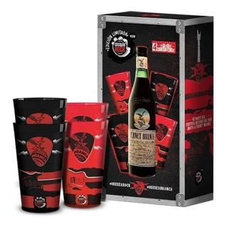 Fernet Branca Cosquin Rock + 4 Vasos Edicion Limitada