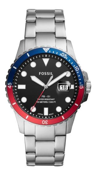 Reloj Caballero Fb - 01 Fossil Fs5657 Color Plateado