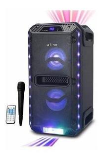 Parlante Uline Bt 8016 Con Bluetooth Fm Usb Mic, Control 50w