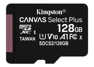 Cartão De Memória Kingston 128gb Canvas Select Plus 100/mbs