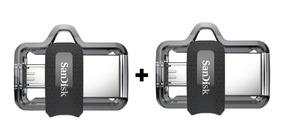 2 X Pendrive 64gb Sandisk Celular E Pc Ultra Dual Drive