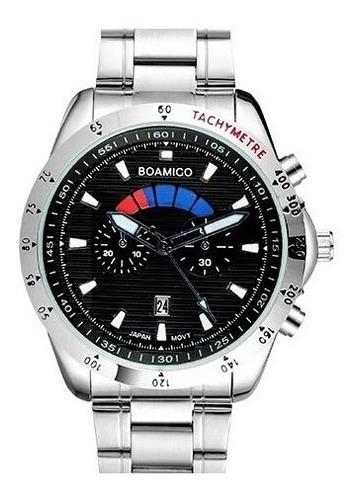 Relógio Masculino Esportivo Pulseira De Aço Watch Men Steel