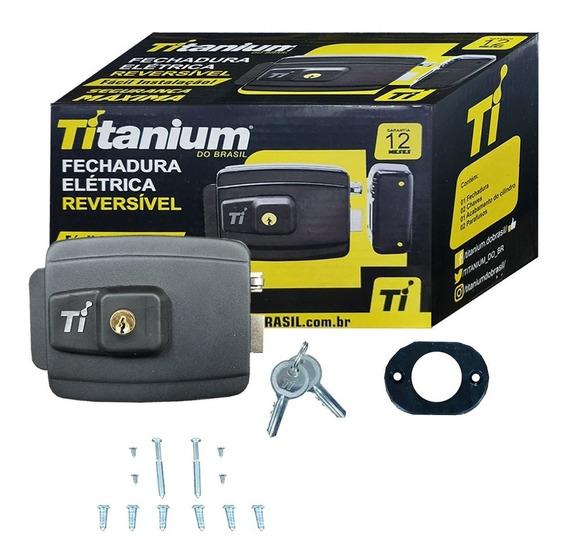 Fechadura Elétrica Reversível Titanium Segurança Máxima