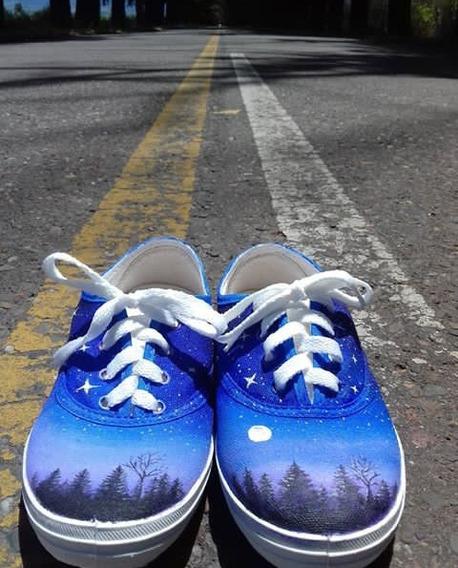 Zapatillas Artísticas Perzonalizadas Pintadas... Puro Arte