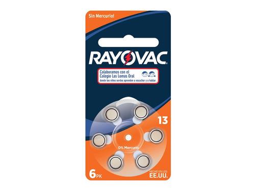 Imagen 1 de 9 de Pila Rayovac 13 Audifono 13 Pila Auditiva 6 U L-13-6 R