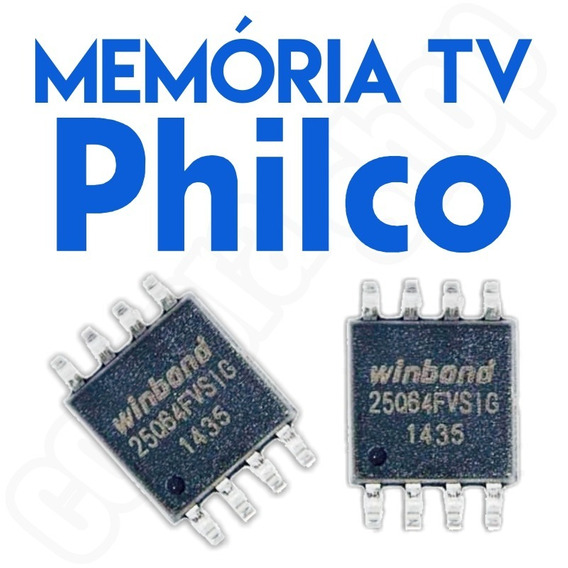 Memoria Flash Tv Philco Ph24d21d Led (a) Kit 3x Peças